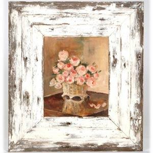 La France Rose Painting With Barnwood Finish Frame By Jane Keltner
